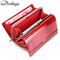 Genuine Leather Women Wallet Multifunction Clutch Wallets Brand Purses Phone Bag
