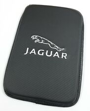 BRAND NEW JAGUAR Carbon Fiber Car Center Console Armrest Cushion Mat Pad Cover