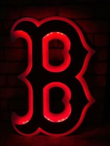Huge Boston Redsox Lighted Mancave Sign