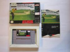 Pebble Beach Golf Links - Super Nintendo . COMPLETE . WOW