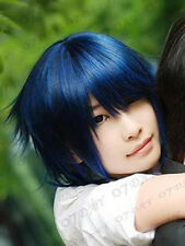 Air Gear Agito Short Black/Blue Cosplay Wig free shipping+wig cap