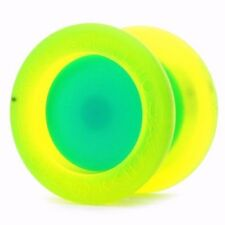 Replay Pro Yellow and Aqua Yo Yo YOYOFactory +3 Extra Neon Strings YEL/ORG/GRN