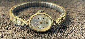 Lucien Perreaux 17 Jewels Watch Speidel Band 14K plated
