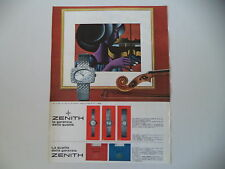 advertising Pubblicità 1967 OROLOGIO ZENITH ORO BIANCO