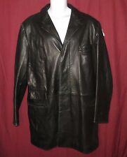 Faconnable Leather Jacket Coat Mens Black Size XL Blazer Bad A$$