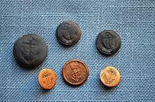 British Navy Buttons, Circa 1812, Salvaged in Lake Erie