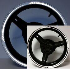 BLACK MOTORCYCLE 3M REFLECTIVE RIM STRIPES WHEEL DECALS TAPE STICKER TAPERED GP
