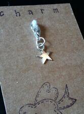 CLIP ON CHARM STAR FOR BRACELET KEYRING PURSE BAG ZIP