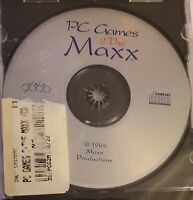 PC Games 2 The Maxx ( 1994 CD ROM Computer Game ) VTG By Maxx Productions | RARE