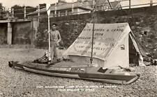 Captain Sullivan Canoeing Champion Lone Star autograph signed RP old pc