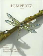 LEMPERTZ JEWELLERY WATCHES Scarabs Seals Moretto Tiffany Vacheron Catalog 2014