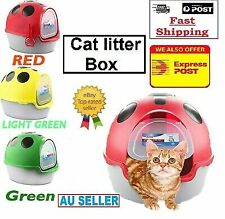 Cat Kitty Litter Box Tray Sifting Toilet Box with Cat Litter Scoop cat Tray AUS