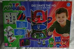 PJ MASKS HEAD QUARTERS COLOURING PLAYSETWITH CRAYONS BRAND NEW & SEALED