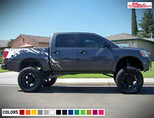 Decal Sticker Graphic Vinyl Side Bed Mud Splash Kit for Nissan Titan 03-15 Sport