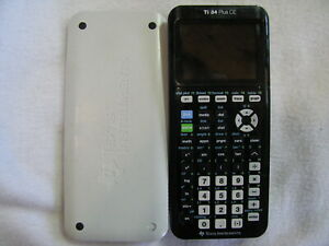 Work Texas Instruments TI 84 Plus CE Black + Cover Graphing Calculator No Cable