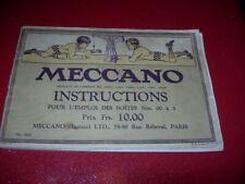 CATALOGUE  MECANO  INSTRUCTIONS  POUR BOITES  00  A 3