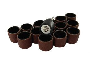 """15pc 1/2"""" 12.5Mm 120 Grit Drum Sanding Sleeves Wood, Metal, Nails, 4 Dremel etc"""
