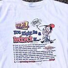 VINTAGE 2002 Jeff Foxworthy Redneck White T-shirt Size XL