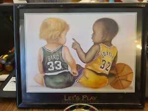 "Kenneth Gatewood's Larry Bird & Magic Johnson ""Let's Play"" Print Babies"