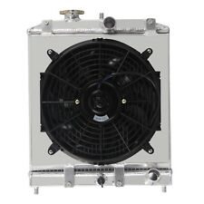 Aluminium Radiator+Shroud Fan For 1992-00 Honda Civic EK EG CRX DEL SOL 1993-97