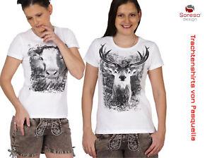 Soreso® Trachten Damen Shirt Wiesn Volksfest Oktoberfest Frauen Hirsch Geweih