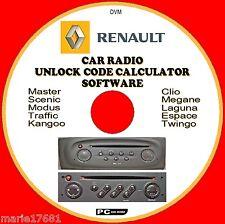RENAULT AUTORADIO/ Radio Codice RECUPERO SBLOCCO Decode CD MODUS Master Kangoo