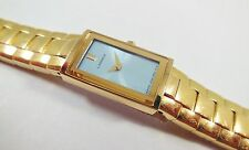 Lassale by Seiko Gold Tone Metal 2E20-2570 Blue Dial Sample Watch NON-WORKING