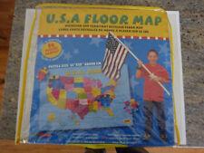 "EDUSHAPE 54-Piece Puzzle USA Foam Oversized and Detailed Floor Map - 23"" X 35"""