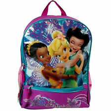 "Backpack 16"" Multi-Compartment TINKERBELL Fairy Friends Purple NWT"