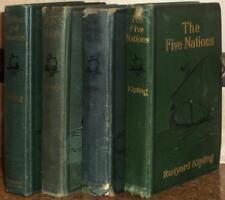KIPLING VINTAGE 4 HC Jungle Bk JUST SO STORIES 5 Nations TRAFFICS & DISCOVERIES