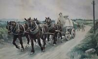 Following a Horse-Drawn Cart 'The Quarry' Watercolour Aftr Stanhope Forbes c1905