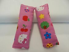 Baby Car Seat Belt Strap Covers Highchair Pram Stroller - Hello Kitty -Cherries
