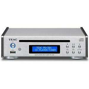TEAC CD Player USB PD-301-S Silver from JAPAN