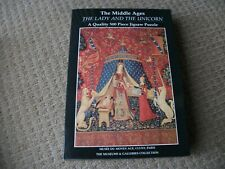 THE LADY AND THE UNICORN JIGSAW - MUSEUM & GALLERIES - 500 PIECE -EXCELLENT COND