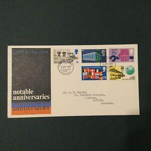 GB 1969 Anniversaries FDC, GPO brand ,Bureau FDI (GBFDC206)