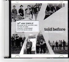 (FM996) The Markus Band, Told Before - 2003 DJ CD