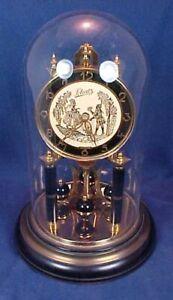 Vintage Schatz Jahresuhrenfabrik 49 Anniversary Clock Germany Figures on Face