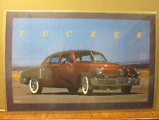 Vintage Tucker Car Garage poster man cave 1988 6999