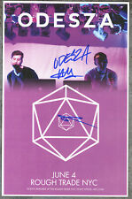 Odeza autographed gig poster Clayton Knight and Harrison Mills