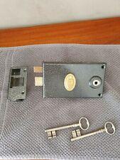 Debeaurain - Serrure en applique noire gauche 1 point pêne dormant + 2 clés
