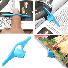 5 Pcs Plastic Thumb Thing Book Markers Bookmark Book Page Holder Novelty Gift US