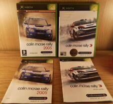 Colin McRae Rally 2005 + Rally pour Xbox Original (Microsoft) GC-Free p&p!