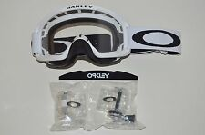 Maschera Oakley O2 O-Frame 2.0 Mx Roll Off Bianco White Cross Enduro OO7068-20