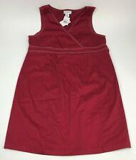 New MOTHERHOOD Maternity BRICK Red Wrap DRESS Tie Back COTTON Stretch Sz L