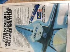 Boxm1a ephemera 1981 revell space shuttle advert