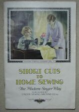 """Vintage 1923 SINGER """"Shortcuts To Home Sewing""""  Original  Library Book No. 1"""