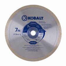 "New Kobalt 7"" Wet/Dry Diamond Tipped  Circular Saw Blade for Glass Tile 416741"