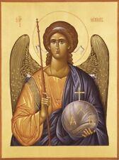 Archangel Michael Hand Painted Eastern Orthodox Byzantine icon on wood