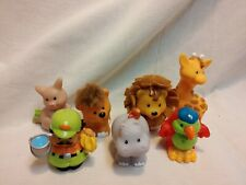 Fisher Price Little People Zoo animal Figures Lot Set Of 7 with Zoo Keeper