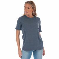 Womens Henri Lloyd Jayne Short Sleeve Marl Crew T-Shirt In Indigo